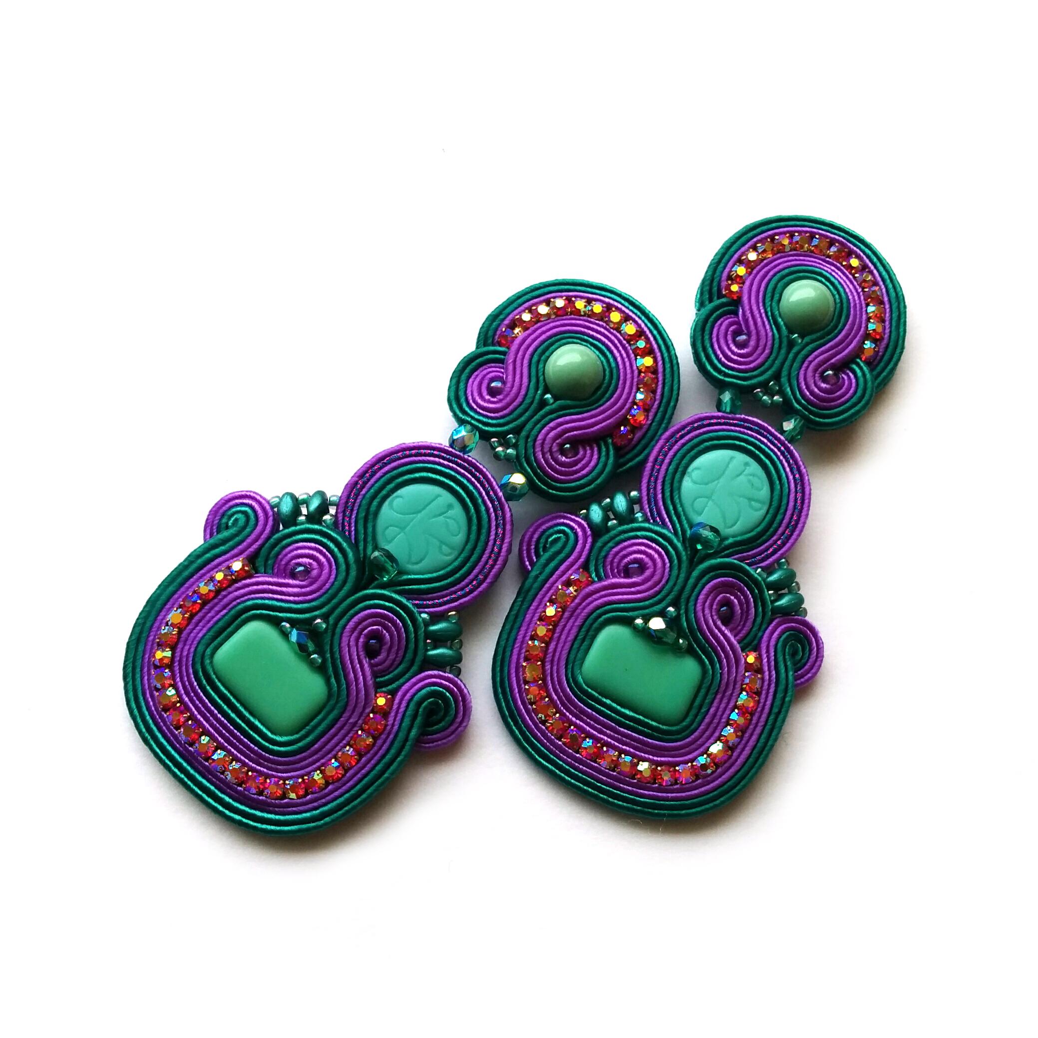 Soutache Earrings – Clipon