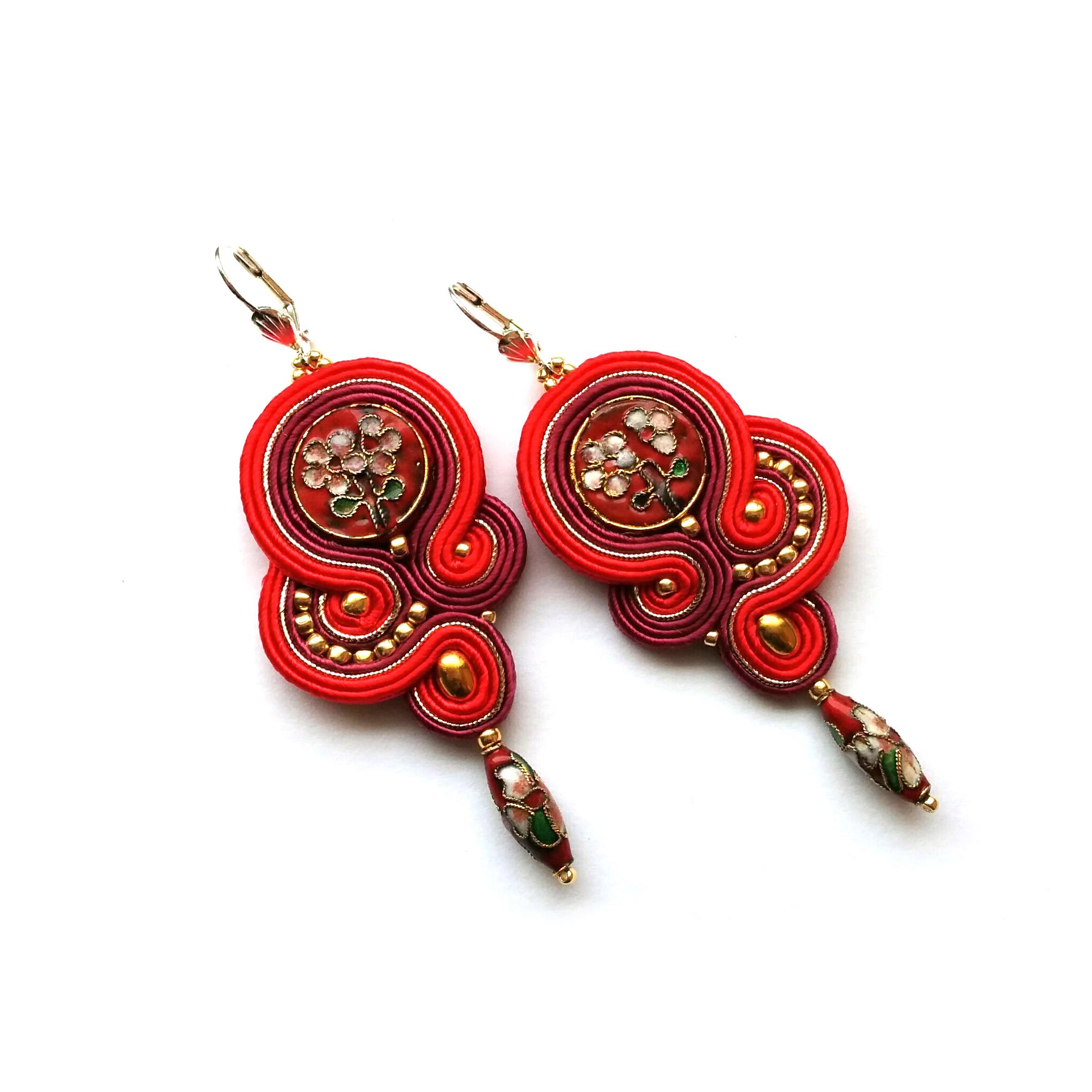 Soutache Earrings – Statement Earrings