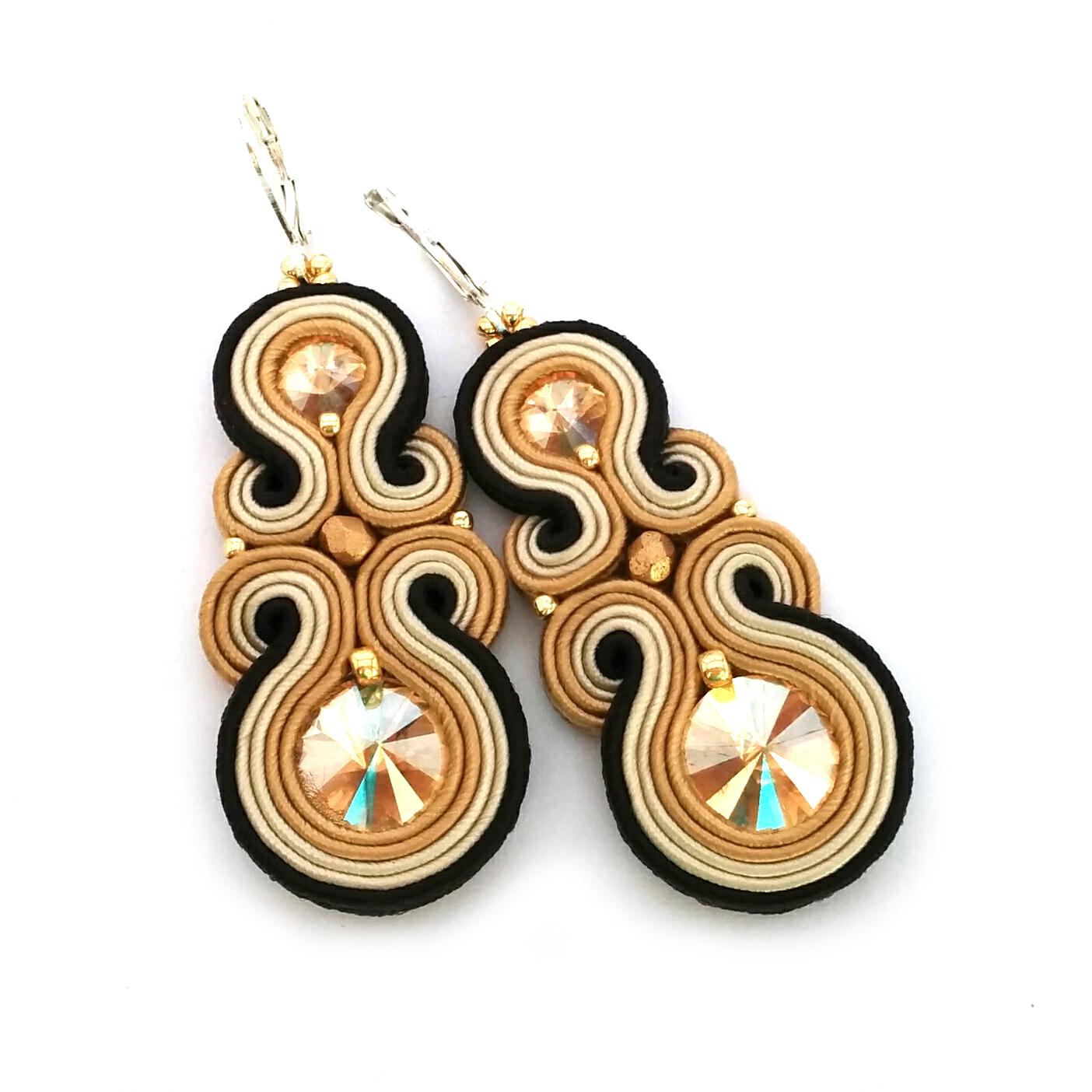 soutache earrings statement earrings sabo design