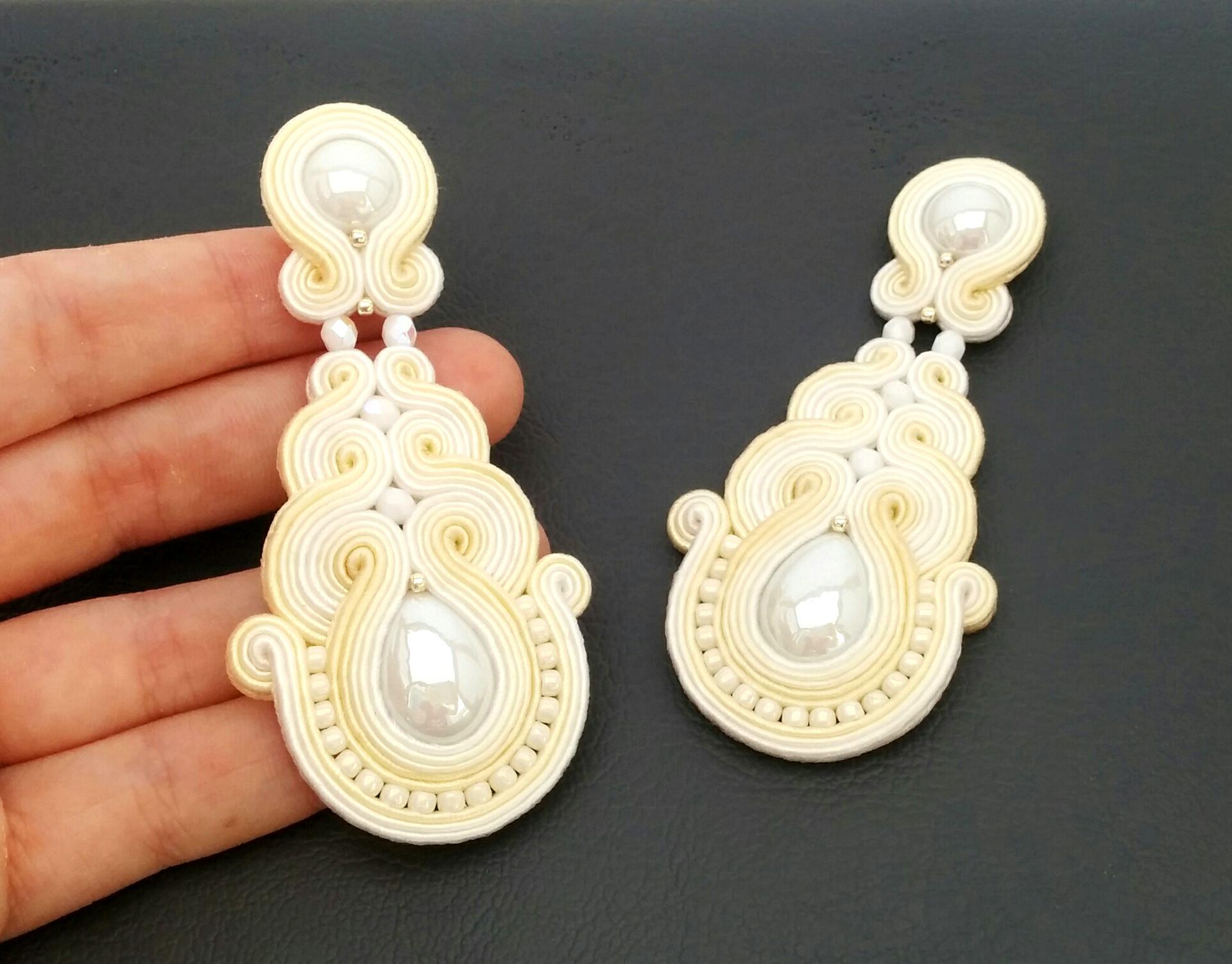 Soutache earrings – Clip-on earrings – Post earrings | SABO Design
